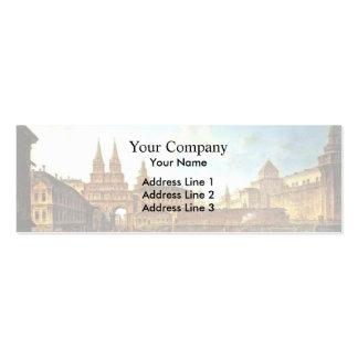 Fyodor Alekseyev- View of the Voskresensky ,Moscow Business Card