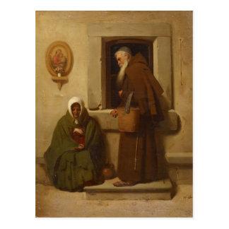 Fyodor Bronnikov- el monje y el mendigo Tarjeta Postal