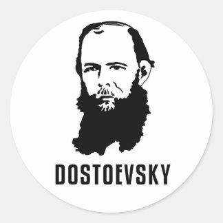 Fyodor Dosoevsky Classic Round Sticker