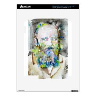 fyodor dostoevsky - watercolor portrait decal for iPad 3