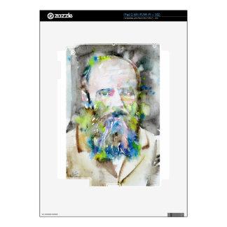fyodor dostoevsky - watercolor portrait decals for iPad 2