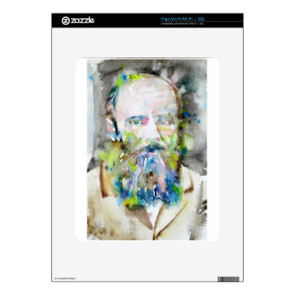 fyodor dostoevsky - watercolor portrait iPad skin