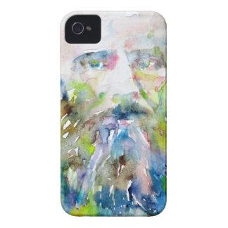 fyodor dostoevsky - watercolor portrait iPhone 4 case