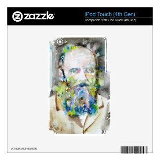 fyodor dostoevsky - watercolor portrait iPod touch 4G skin