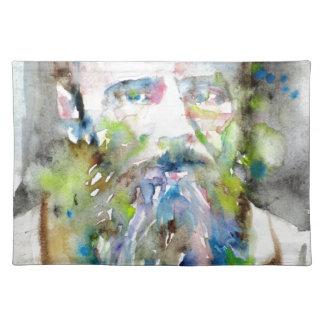 fyodor dostoevsky - watercolor portrait placemat