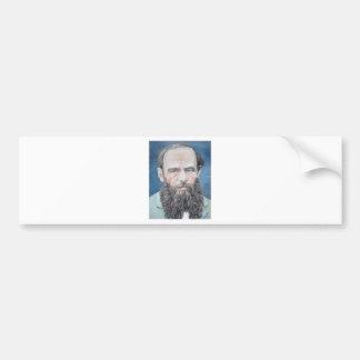fyodor dostoyevsky - oil portrait bumper sticker