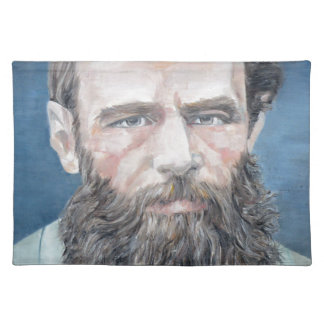 fyodor dostoyevsky - oil portrait cloth placemat
