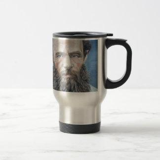 fyodor dostoyevsky - oil portrait travel mug