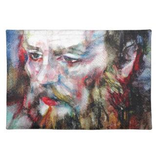 FYODOR DOSTOYEVSKY - watercolor portrait.2 Placemat