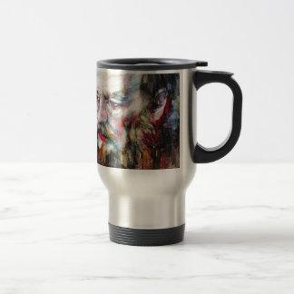 FYODOR DOSTOYEVSKY - watercolor portrait.2 Travel Mug