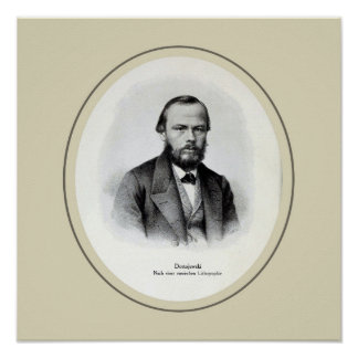 Fyodor Mikhailovich Dostoyevsky square Poster