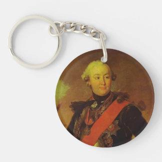 Fyodor Rokotov- Portrait of Count G.G.Orlov Acrylic Key Chains