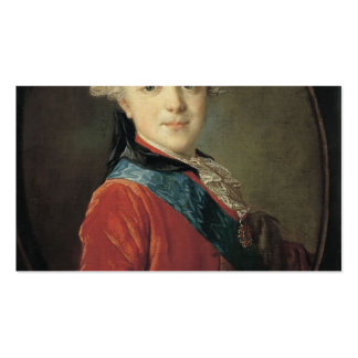 Fyodor Rokotov- Portrait of Emperor Paul I Double-Sided Standard Business Cards (Pack Of 100)