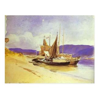 Fyodor Vasilyev- Barges cerca del banco Postal