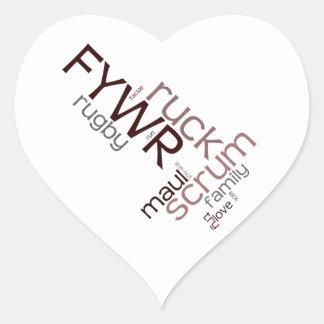 FYWR Logo Products Heart Sticker
