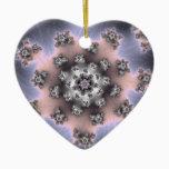 Fzoom Christmas Fractal Ceramic Ornament