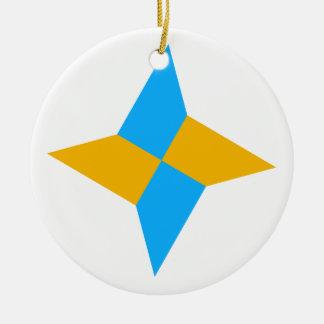 G00003 Origami Shuriken Ceramic Ornament