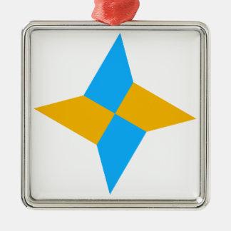 G00003 Origami Shuriken Metal Ornament