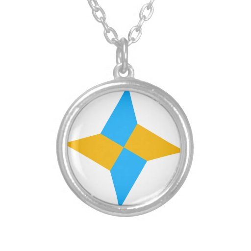 G00003 Origami Shuriken Personalized Necklace