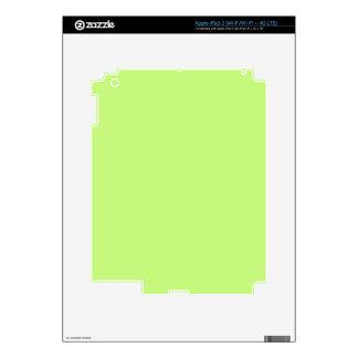 G03 Light Green Color iPad 3 Skins