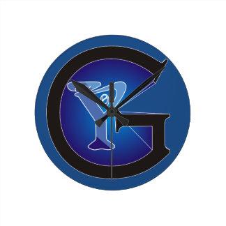 G0Y Fashion Logo Round Clock