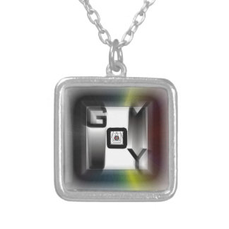 G0Y tags ... Silver Plated Necklace