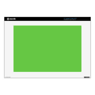 "G10 Peacefully Creative Green Color 15"" Laptop Decal"