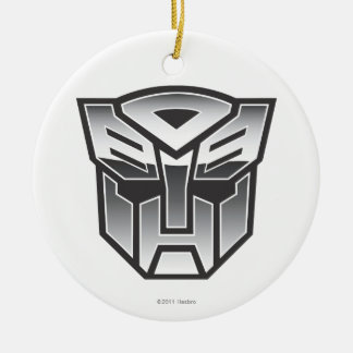 G1 Autobot Shield BW Double-Sided Ceramic Round Christmas Ornament