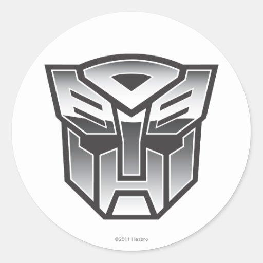 G1 Autobot Shield BW Sticker