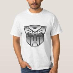 G1 Autobot Shield Bw T-shirt at Zazzle