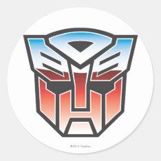G1 Autobot Shield Color Classic Round Sticker at Zazzle