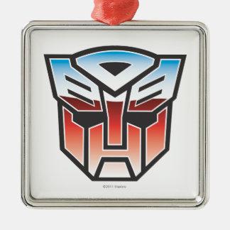 G1 Autobot Shield Color Square Metal Christmas Ornament