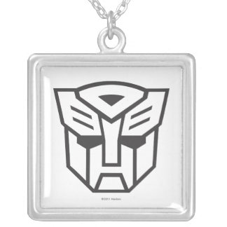 G1 Autobot Shield Line Silver Plated Necklace