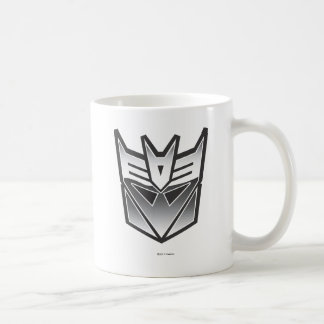 G1 Decepticon Shield BW Coffee Mug
