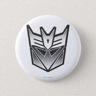 G1 Decepticon Shield BW Pinback Button