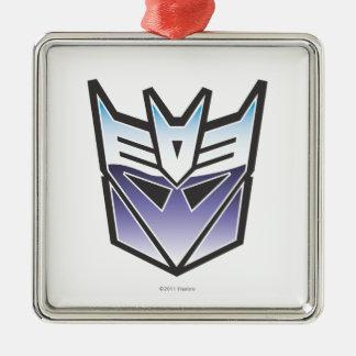 G1 Decepticon Shield Color Square Metal Christmas Ornament