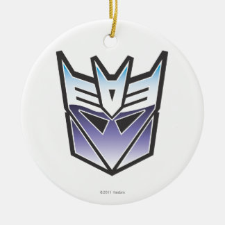 G1 Decepticon Shield Color Double-Sided Ceramic Round Christmas Ornament