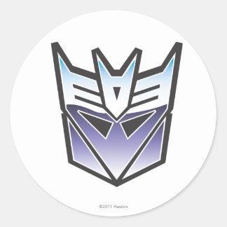 G1 Decepticon Shield Color Classic Round Sticker
