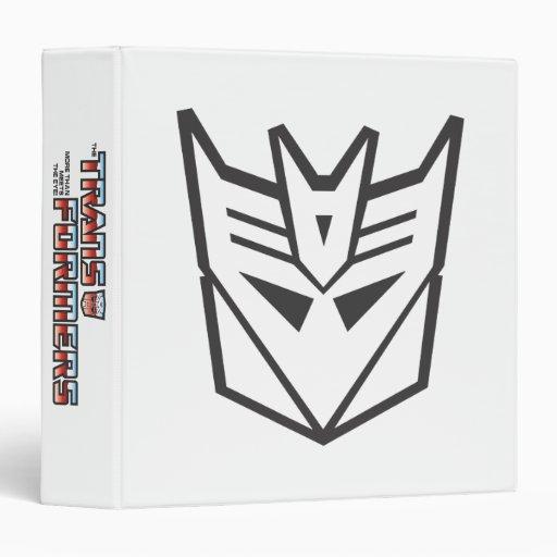 G1 Decepticon Shield Line 3 Ring Binder