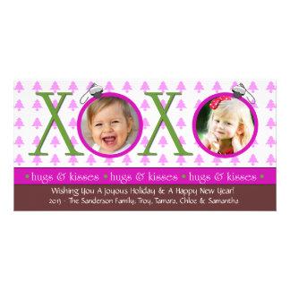 G1 XOXO Christmas Photo Cards-Pink Photo Card