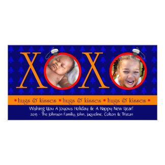 G1 XOXO Christmas Photo Cards-Royal Photo Card