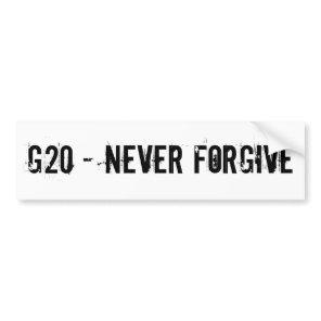 G20 BUMPER STICKER