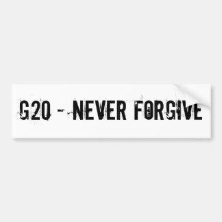 G20 PEGATINA DE PARACHOQUE