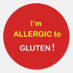 g2 - Soy alérgico - GLUTEN Etiqueta Redonda