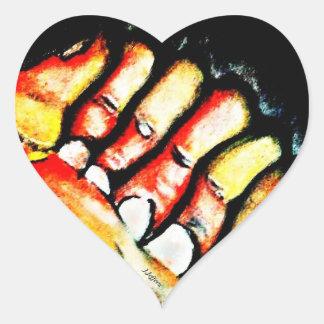G2Al (hand in heart theme) Heart Sticker