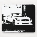 G37 Convertible white brush stroke logo Mouse Pad