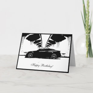 G37 Coupe Car Themed Birthday Card