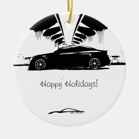 G37 Coupe Side Shot Ceramic Ornament