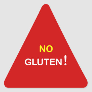 g3 - ~ alerta de la comida NINGÚN GLUTEN Pegatina Triangular