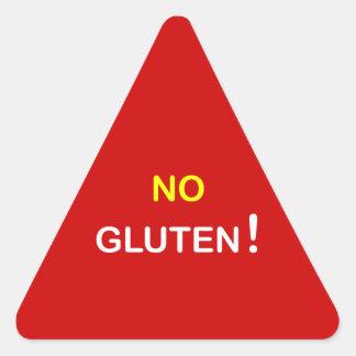 g3 - Food Alert ~ NO GLUTEN. Triangle Sticker